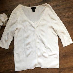 Lane bryant button down white cardigan 18/20